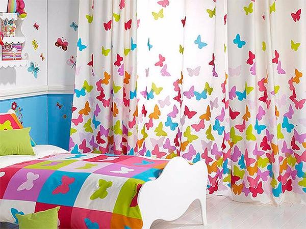 Детски шторы с бабочками