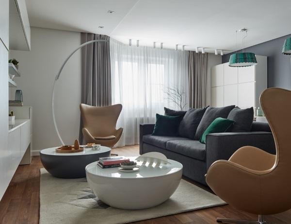 Дизайн зала 2017 в скандинавском стиле фото 6