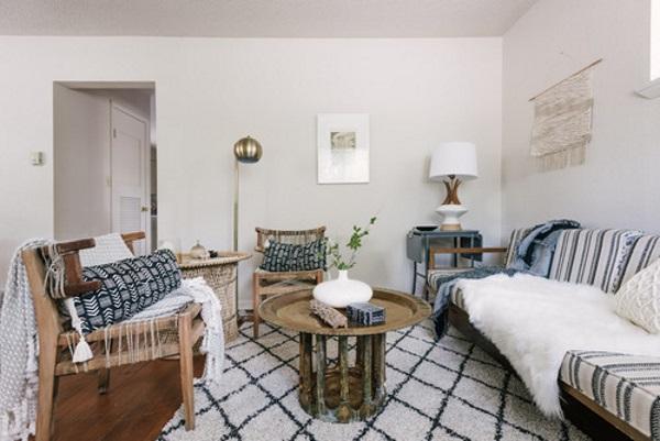 Дизайн зала в квартире 18 кв м в скандинавском стиле фото 6