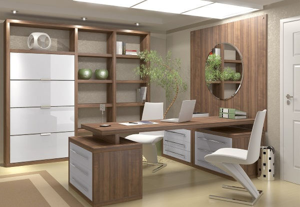 Современная мебель для кабинета в квартире фото