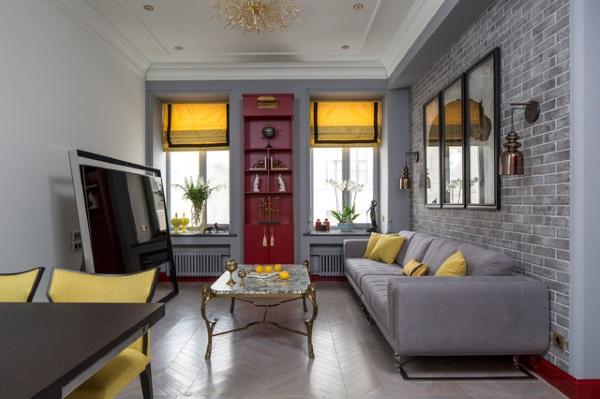 Современный дизайн зала 18 кв в квартире фото 7