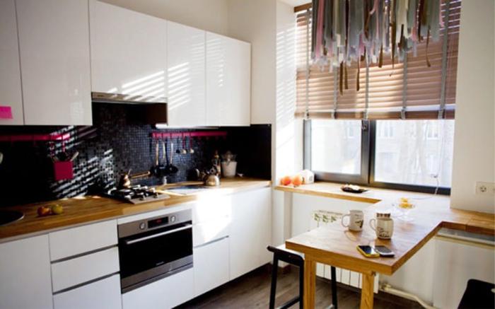 Жалюзи на кухне фото 2 в интерьере