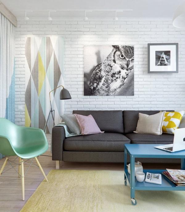 Стильный дизайн зала 18 кв в квартире