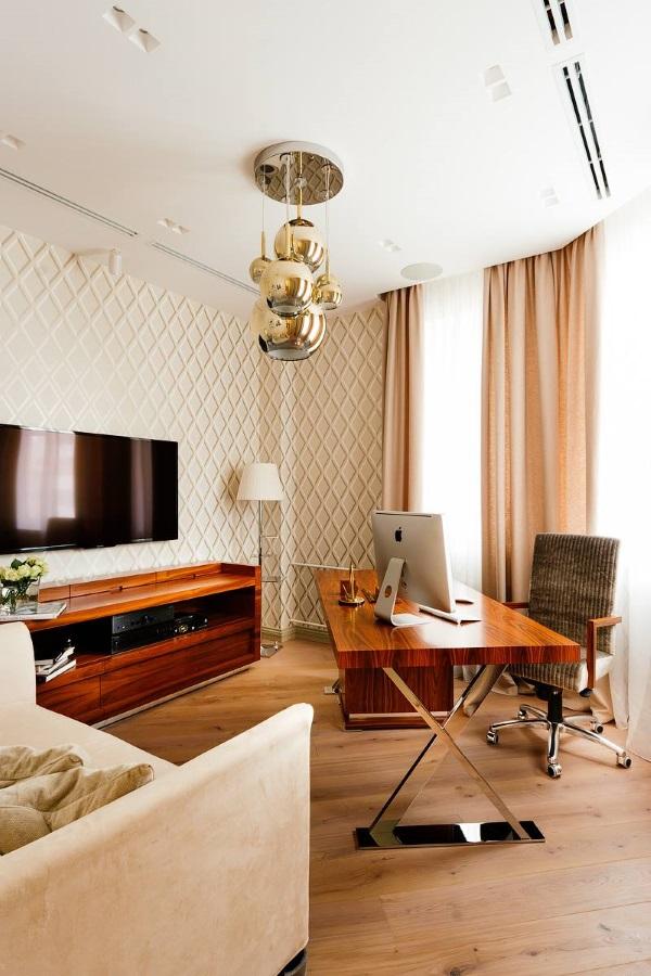 Стильная мебель для кабинета квартире фото