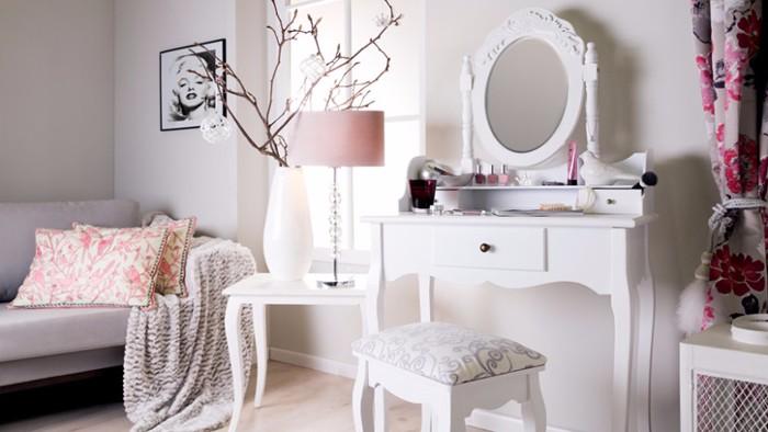 Туалетные столики с зеркалом для спальни фото 9
