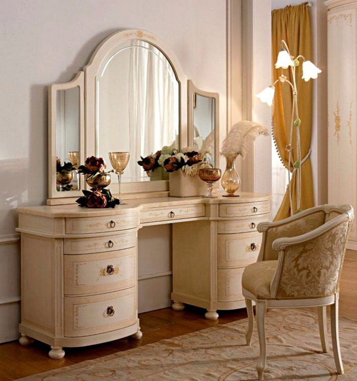 Туалетные столики с зеркалом для спальни фото