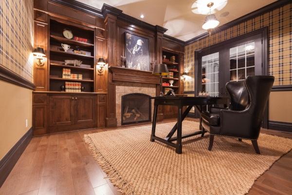 Викторианский стиль кабинета в квартире фото