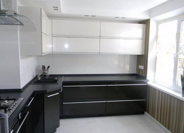 Черно-белая кухня, фото 1