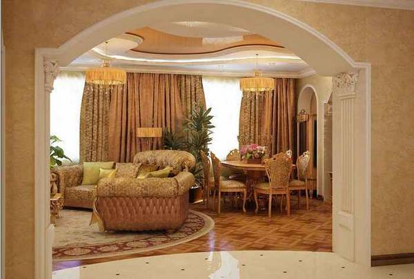 арка из гипсокартона, фото 10