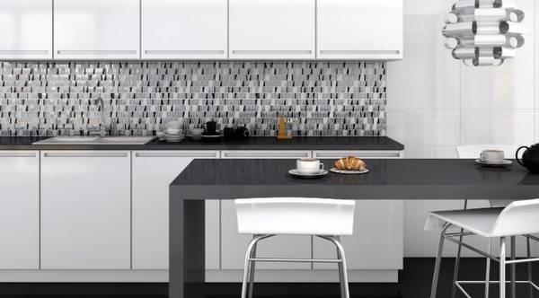 Черно-белая кухня, фото 10