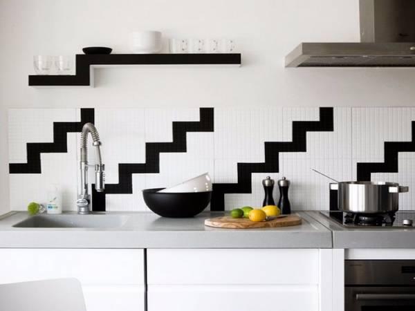 Черно-белая кухня, фото 11
