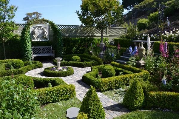 Ландшафтный дизайн двора частного дома, фото 12