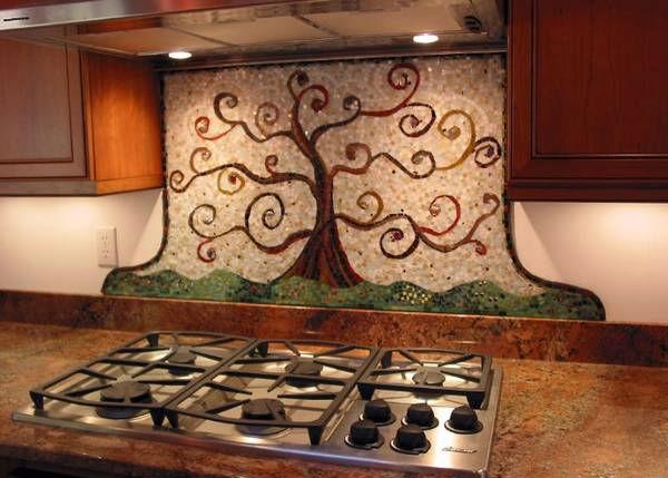 панно из плитки на кухню, фото 17