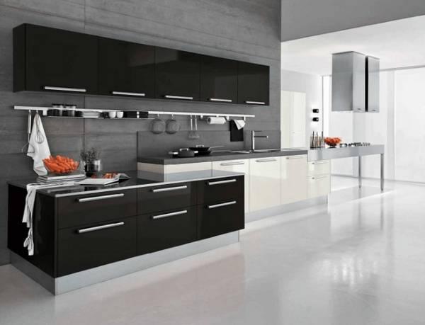 Черно-белая кухня, фото 13