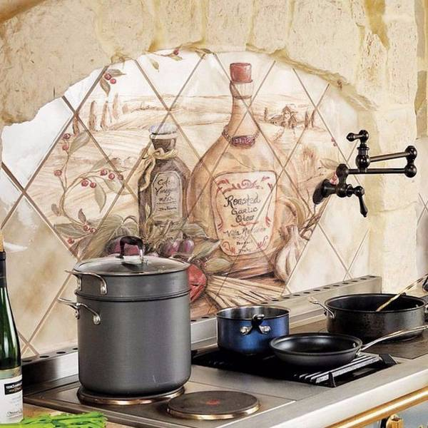 панно из плитки на кухню, фото 18