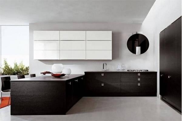 Черно-белая кухня, фото 14