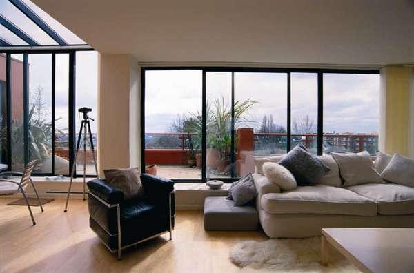 Стильные французские окна на балкон в квартире – 25 фото