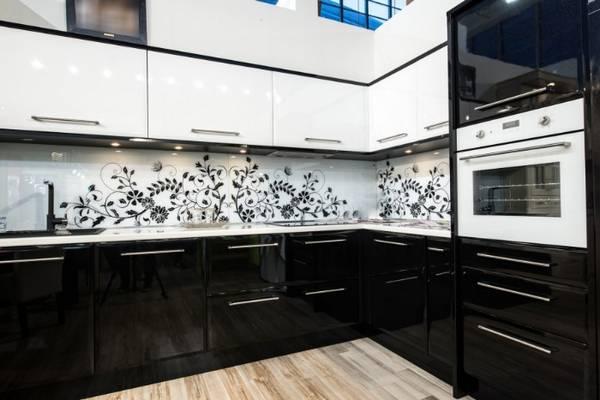 Черно-белая кухня, фото 15