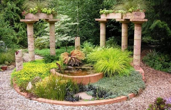 Ландшафтный дизайн двора частного дома, фото 15
