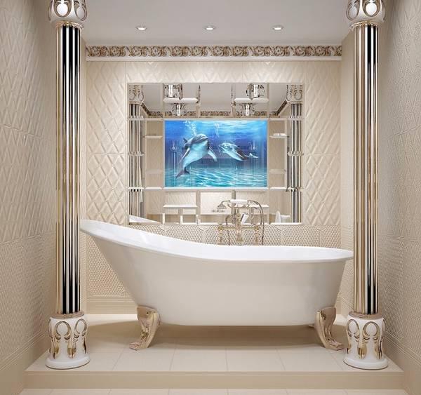панно из плитки в ванную, фото 2