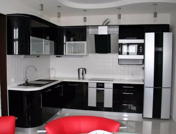 Черно-белая кухня, фото 16