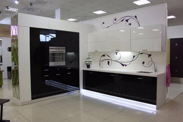 Черно-белая кухня, фото 17