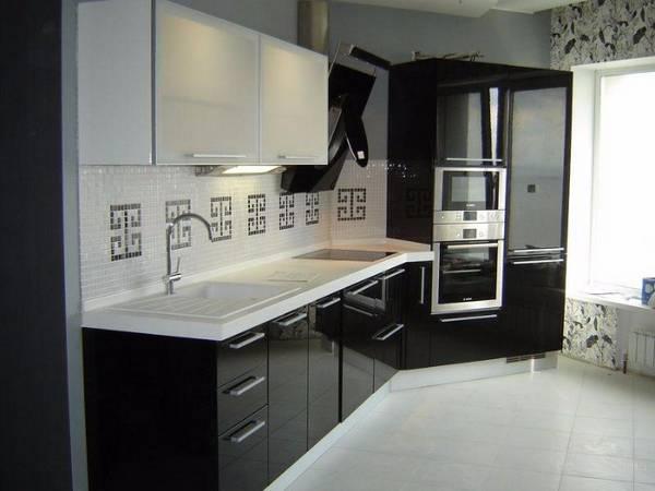 Черно-белая кухня, фото 18