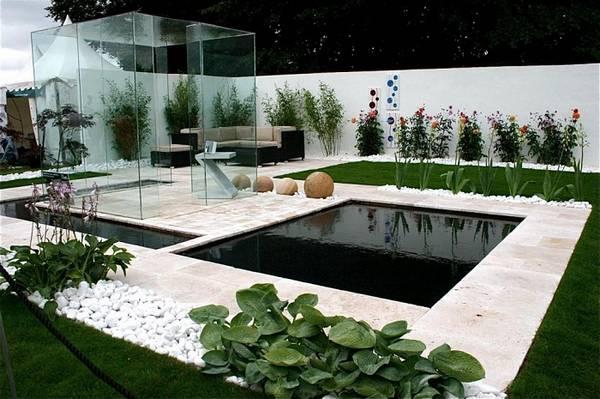 Ландшафтный дизайн двора частного дома, фото 18