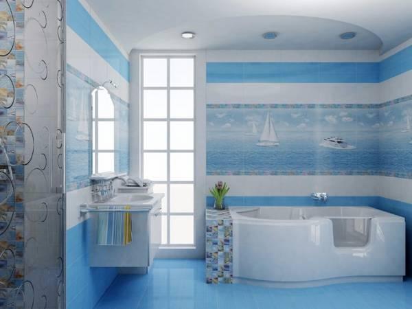 панно из плитки в ванную, фото 4