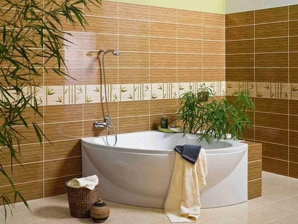 отделка стен керамической плиткой, фото 19