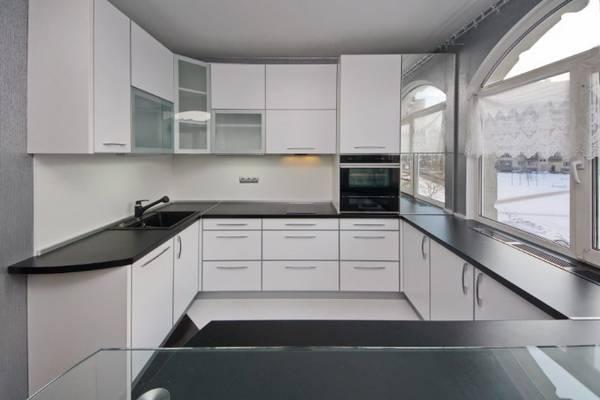 Черно-белая кухня, фото 2