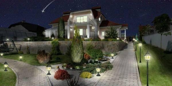 Ландшафтный дизайн двора частного дома, фото 2