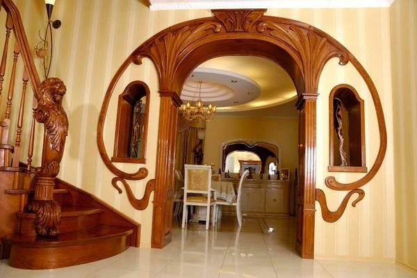 арка из гипсокартона, фото 23