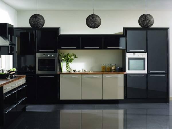 Черно-белая кухня, фото 20