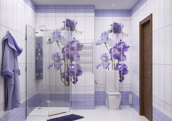 панно из плитки в ванную, фото 5