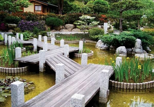 Ландшафтный дизайн двора частного дома, фото 21