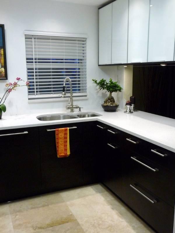 Черно-белая кухня, фото 21