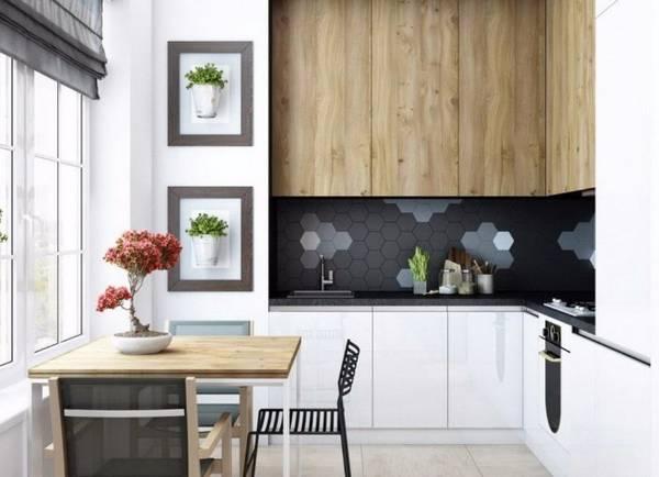 Черно-белая кухня, фото 22
