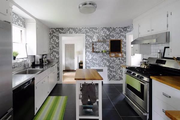 Черно-белая кухня, фото 23