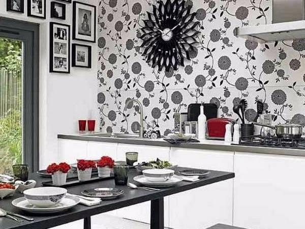 Черно-белая кухня, фото 24