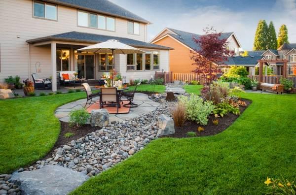 Ландшафтный дизайн двора частного дома, фото 25