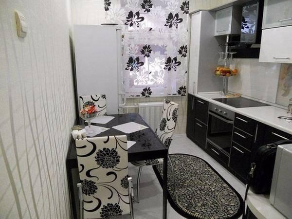Черно-белая кухня, фото 25