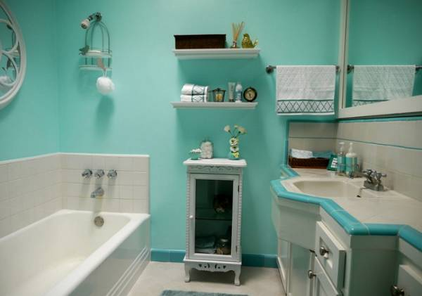 отделка стен в ванной, фото 26