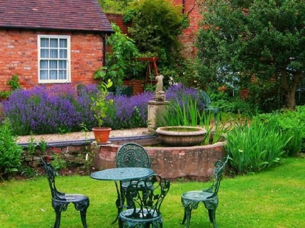 Ландшафтный дизайн двора частного дома, фото 26