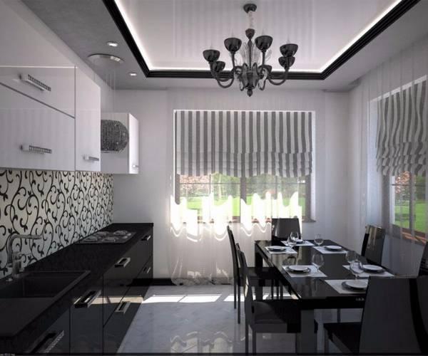 Черно-белая кухня, фото 26
