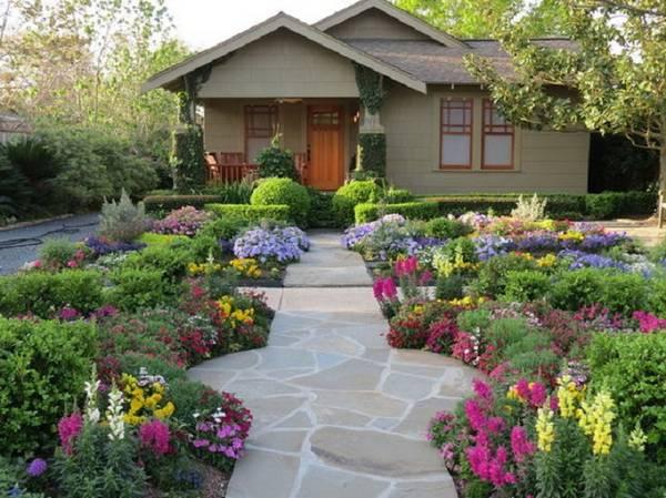 Ландшафтный дизайн двора частного дома, фото 27