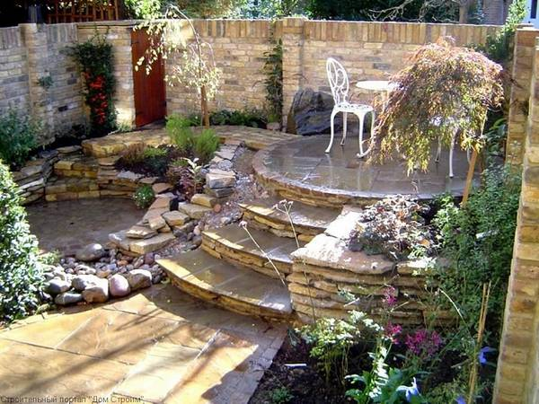 Ландшафтный дизайн двора частного дома, фото 29