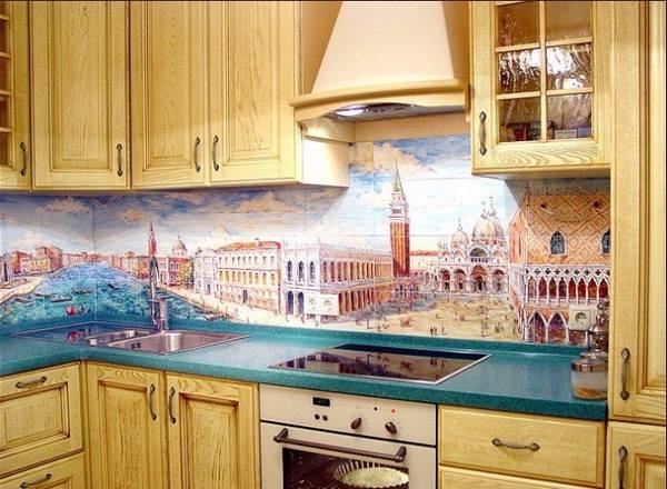 панно из плитки на кухню, фото 23