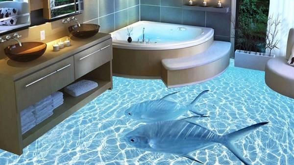 панно из плитки в ванную, фото 8