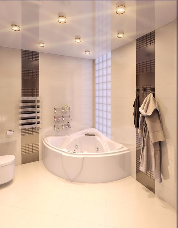 Люстра в ванной комнате: смотрите подборку из 40 фото